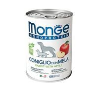 Monge Dog Monoprotein Fruits консервы для собак паштет из кролика с рисом и яблоками 400г